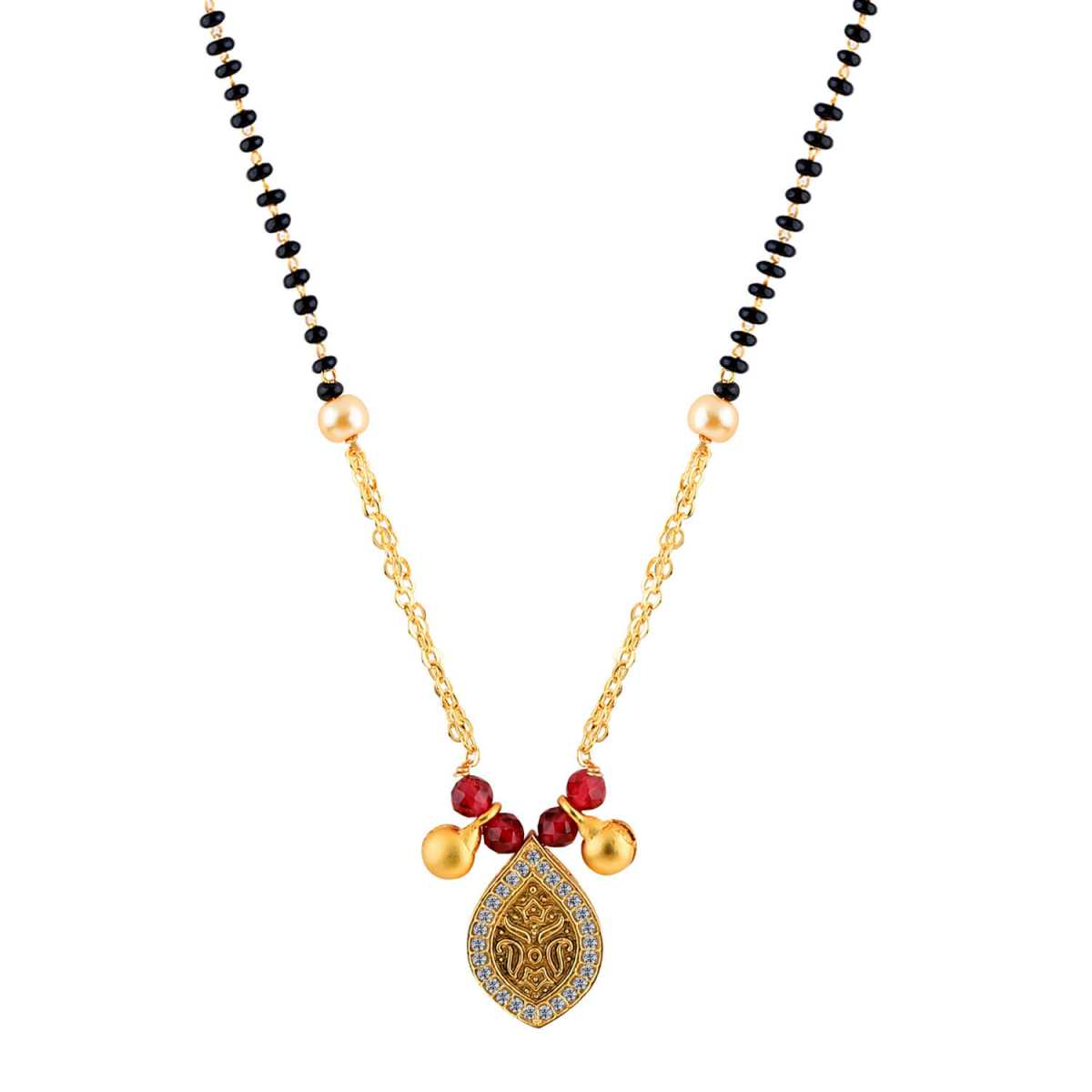 SILVER SHINE Daily Wear Charm Delicated Pandent Mangalsutra For Women