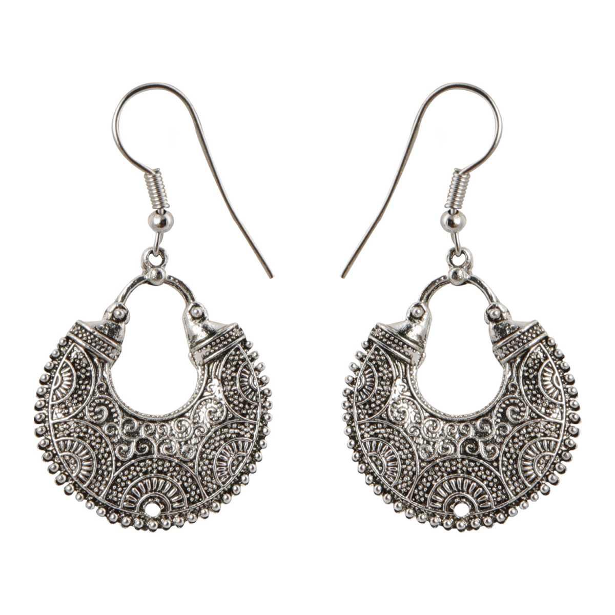 silver shine Classic Chandbali
