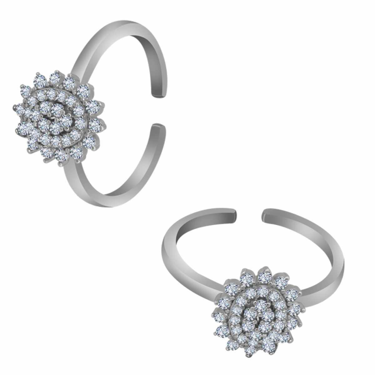 Cute Circle Silver Toe Ring