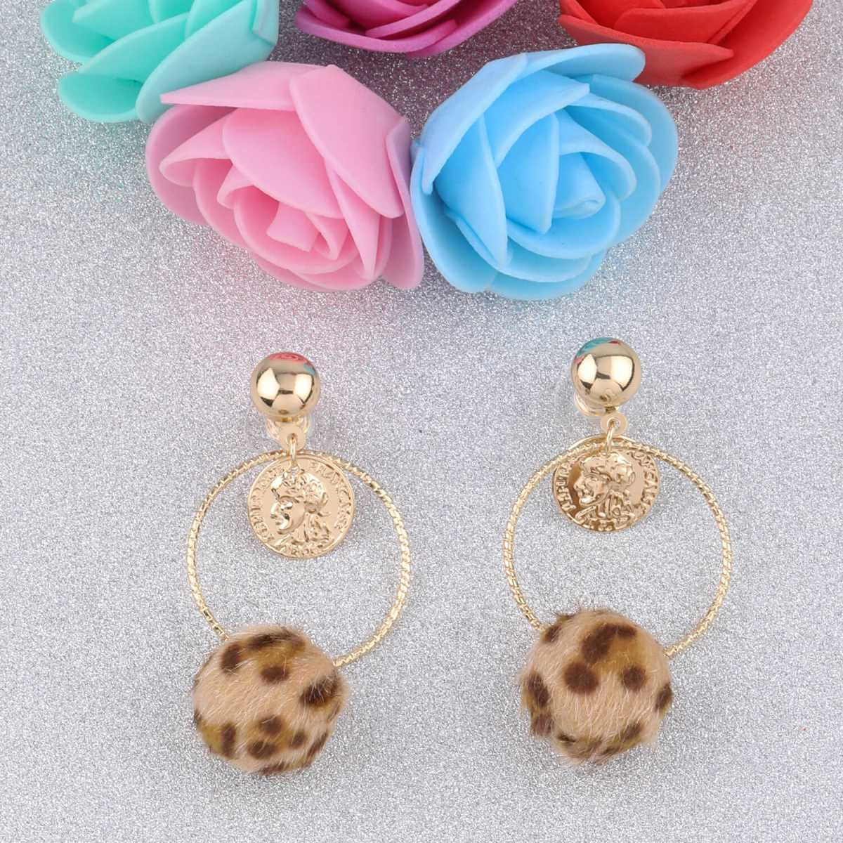 SILVER SHINE Attractive Gold Plated Stylish Party Wear Dangle Earring For Women Girl