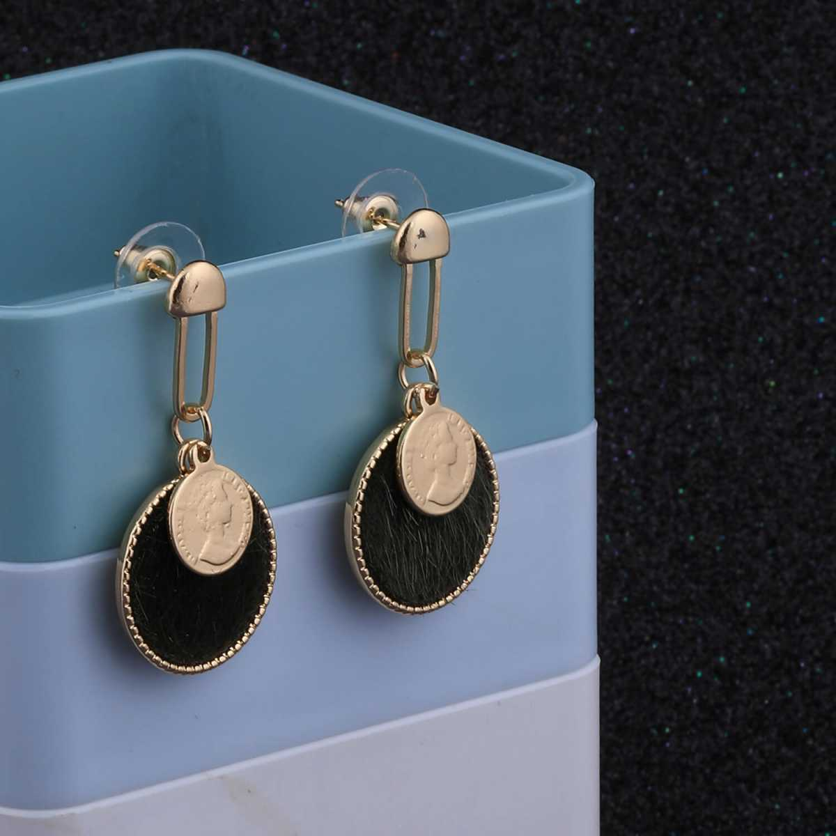 SILVER SHINE Gold Plated Stylish Designer Dangle Earring For Women Girl