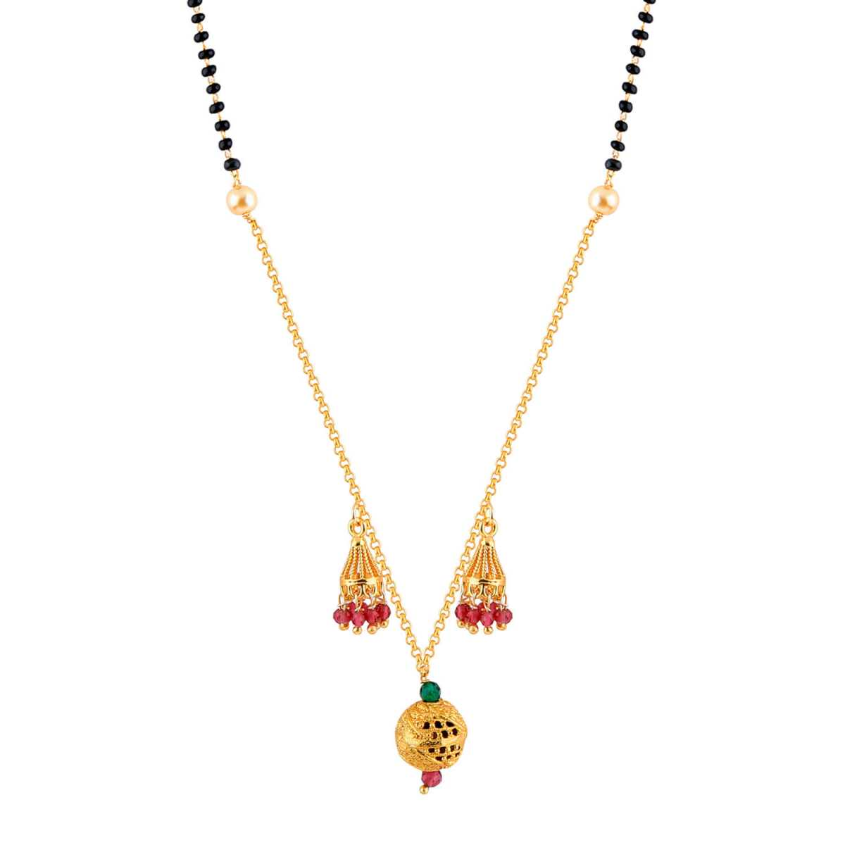 SILVER SHINE Attractive Gold Plated Chain Pandent Designer Mangalsutra For Women
