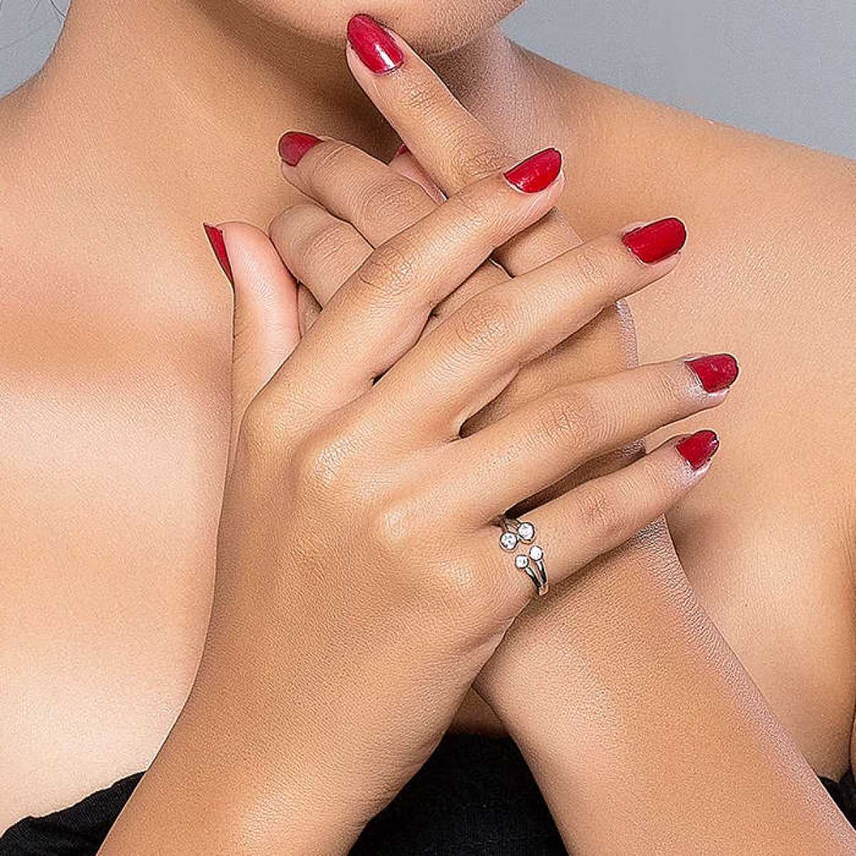 Four Circle Diamond Ring