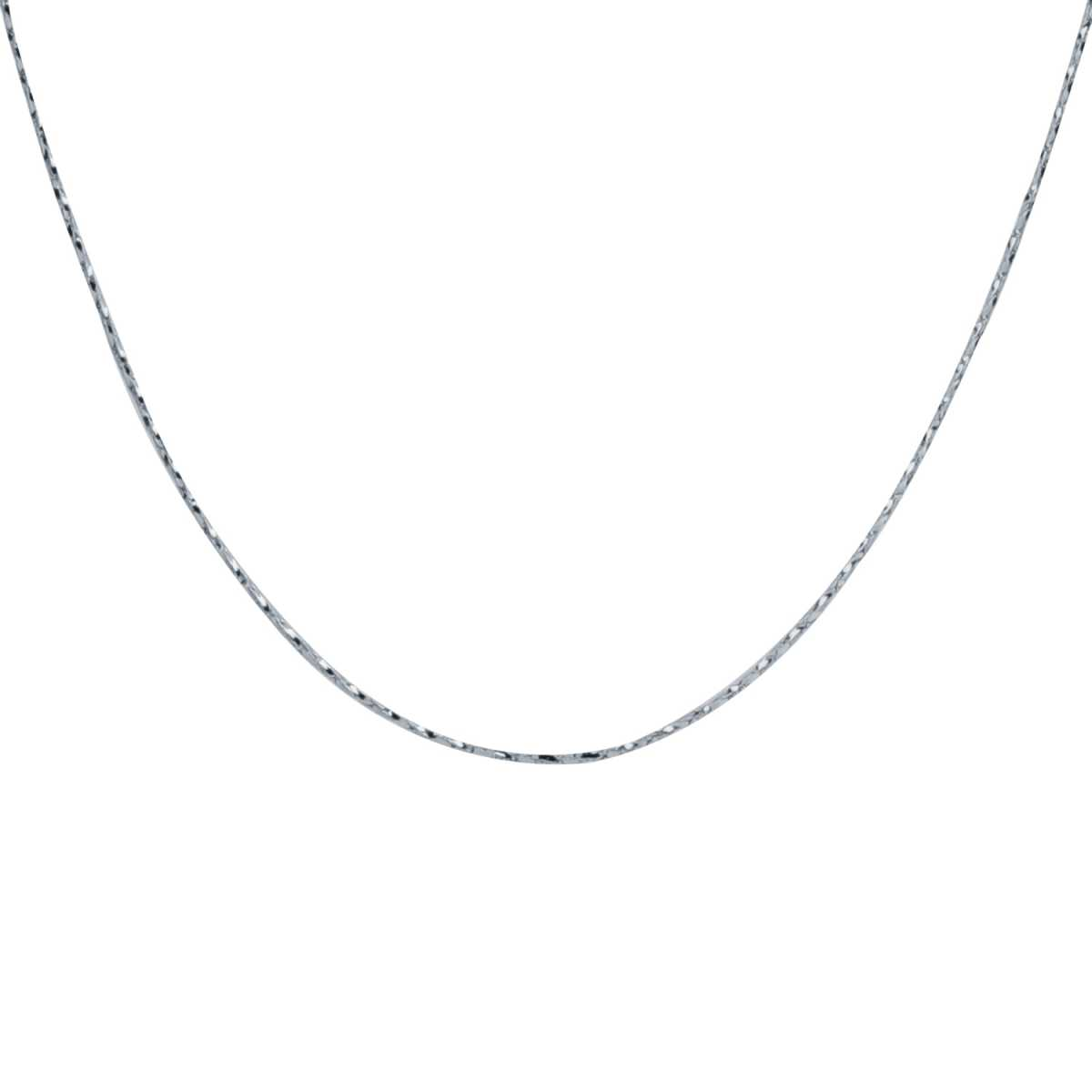Silver Shine Artistic Silver Plated Simple Design Chain Of 17 Inch Daily Wear Jewellry For Girls/Boys/Men/Women