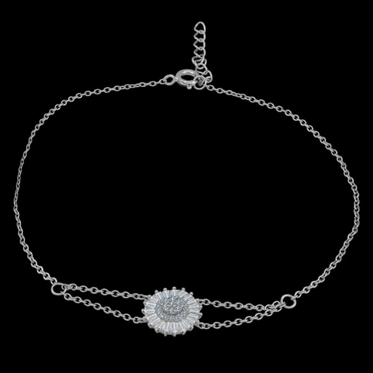 Classic Round Diamond Studded Anklet
