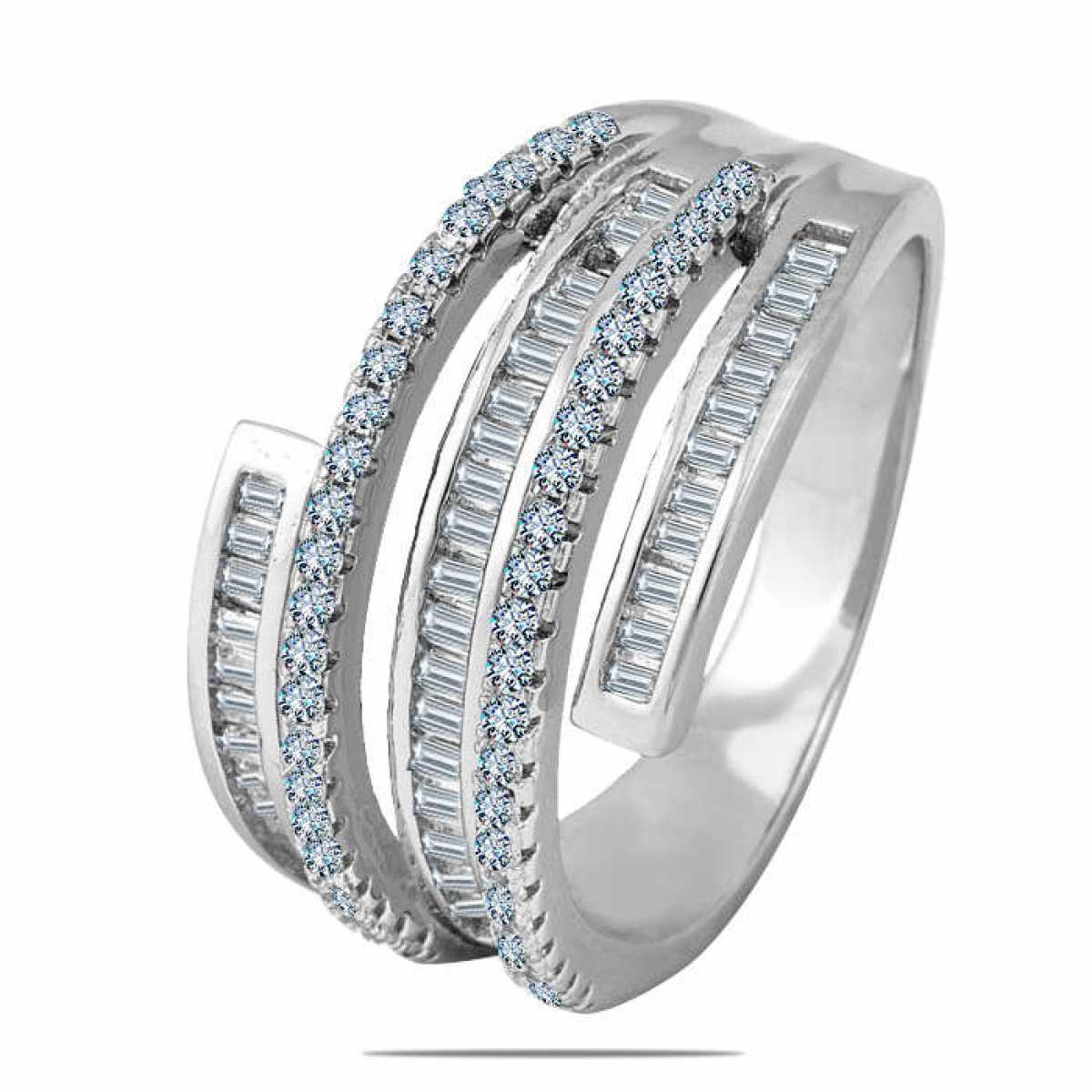 Spiral binding sterling silver ring