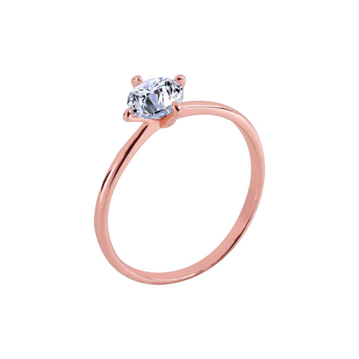 Silver Shine Rose Gold Plated Classic Solitaire Ring for Girls and women,wedding ring,jewelry,diamonds,fashion jewelry,couple rings .