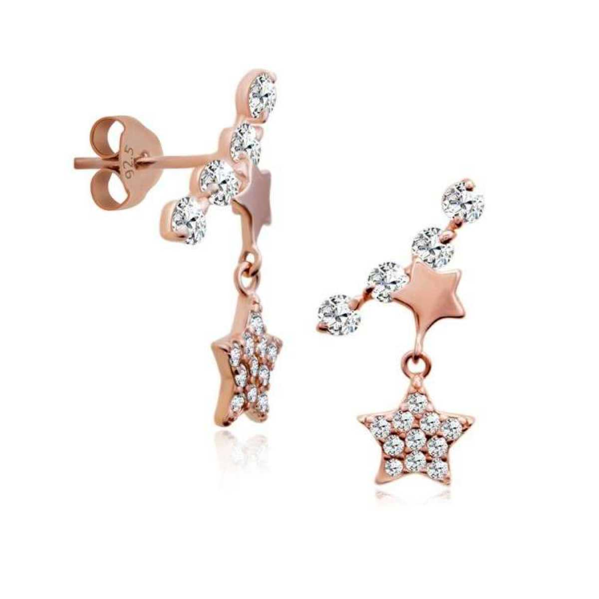 Rose Star Hanging Earring