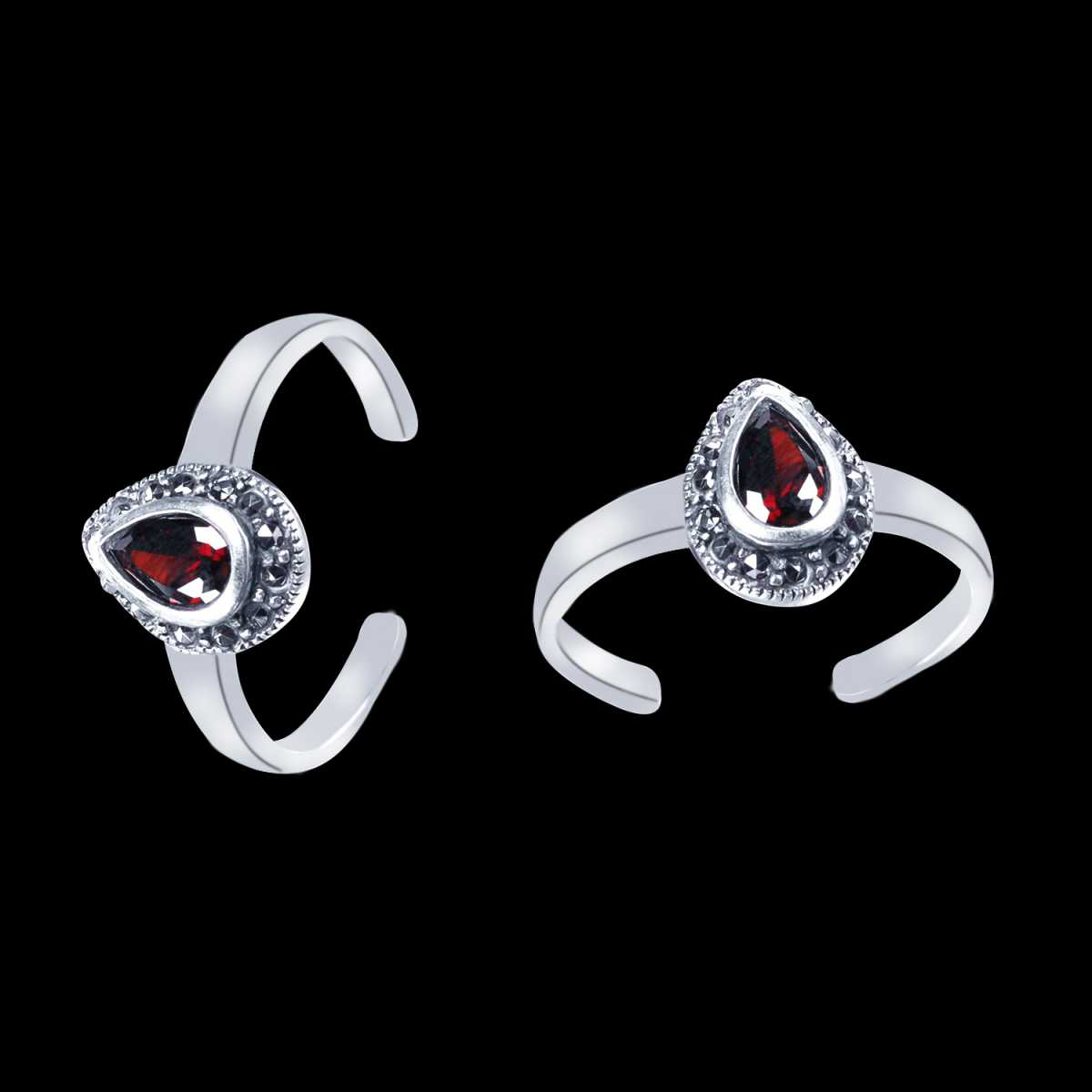 Dazzling Big Drop Diamond  Toe Rings