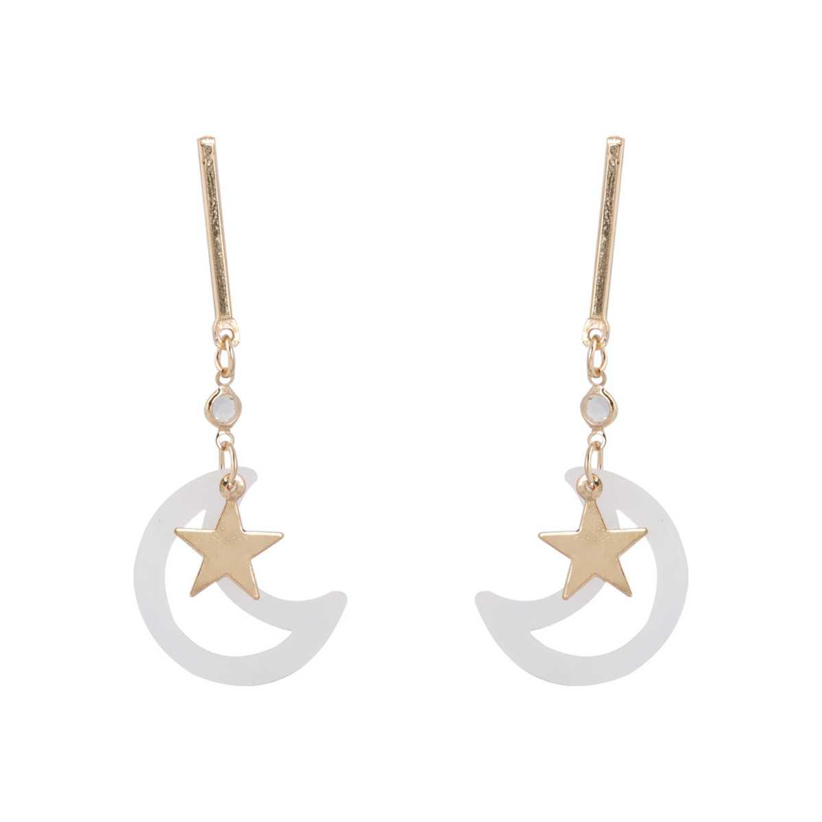silver shine Graceful Half Moon Star