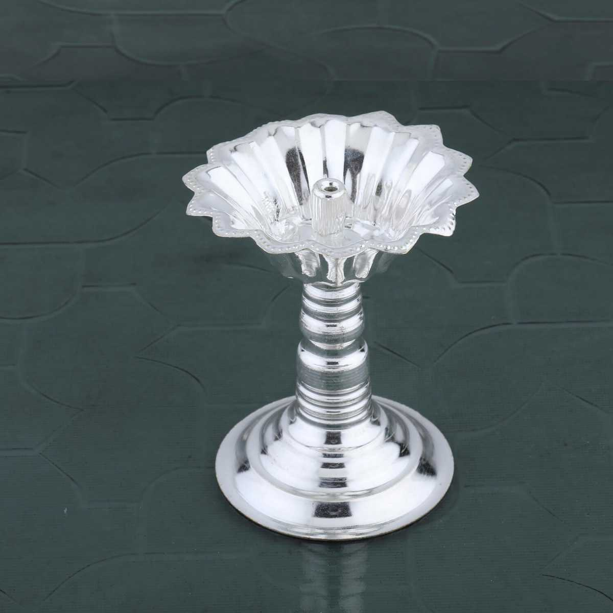 Silver Shine Silver Plated Designer Agarbatti Holder Stand Set of 1