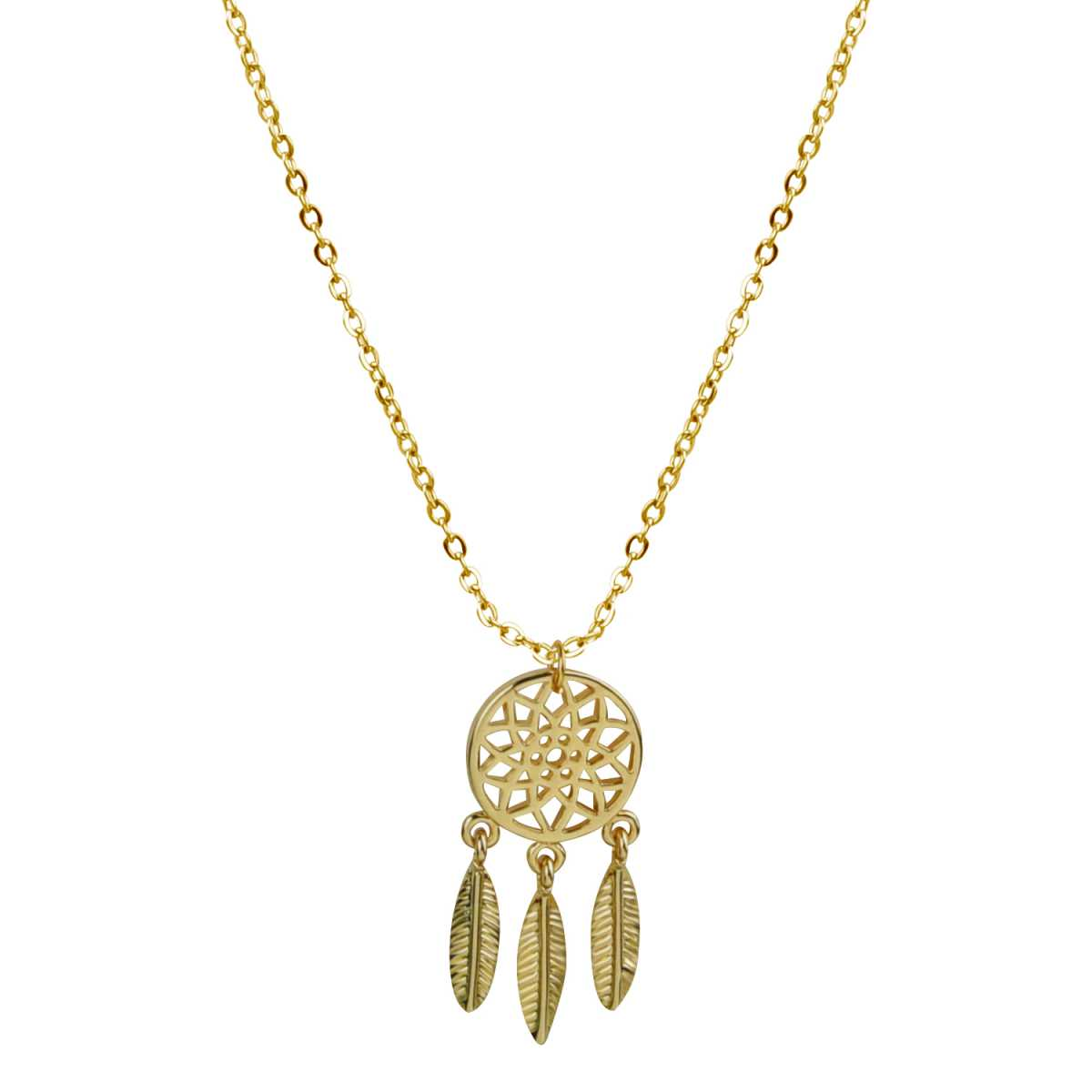 Alluring Gold Hollow Star Leaf Hanging Alloy Gold Plated Pendent Neckless For Girls And Women