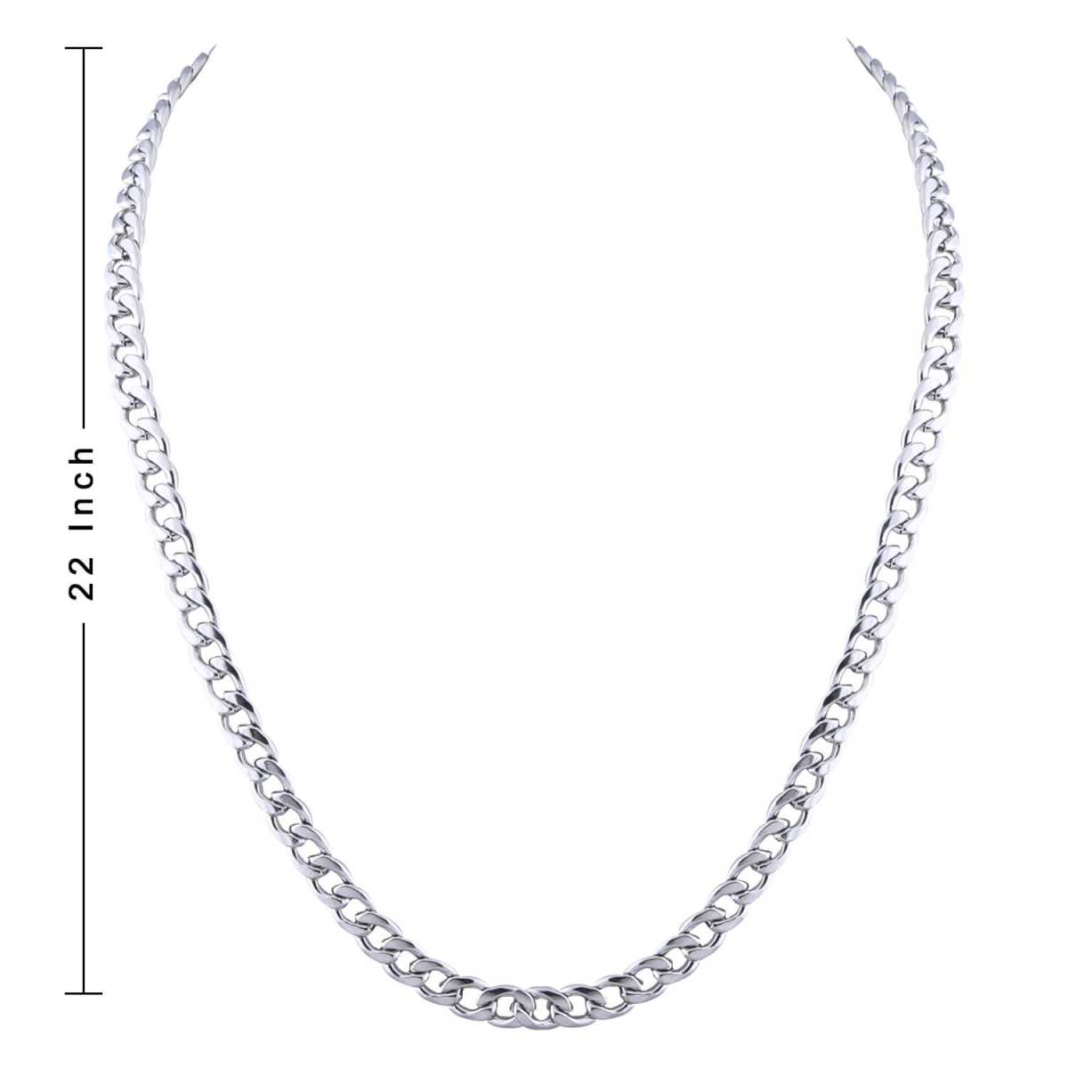 SilverPlated Elegant Cuban Chain For Men and boy Jewellery