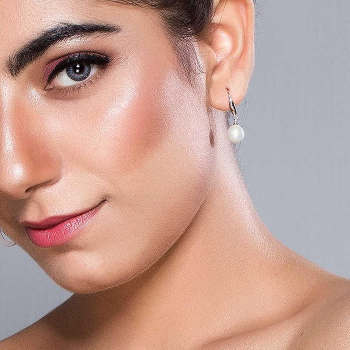 Pearl Drop Silver Earring