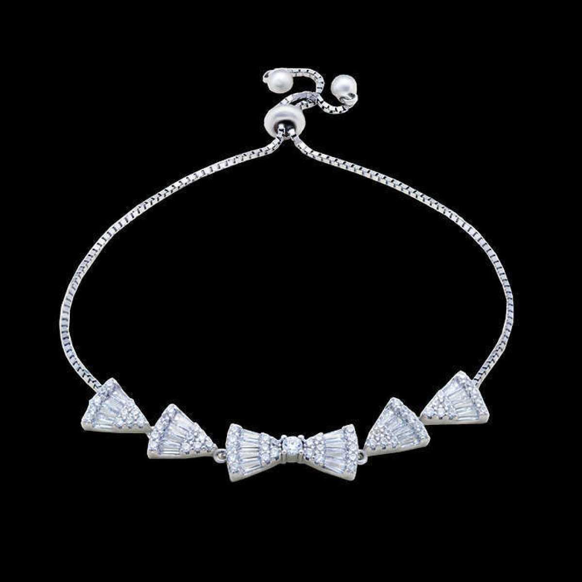 Triangle With Baw Diamond Bracelet