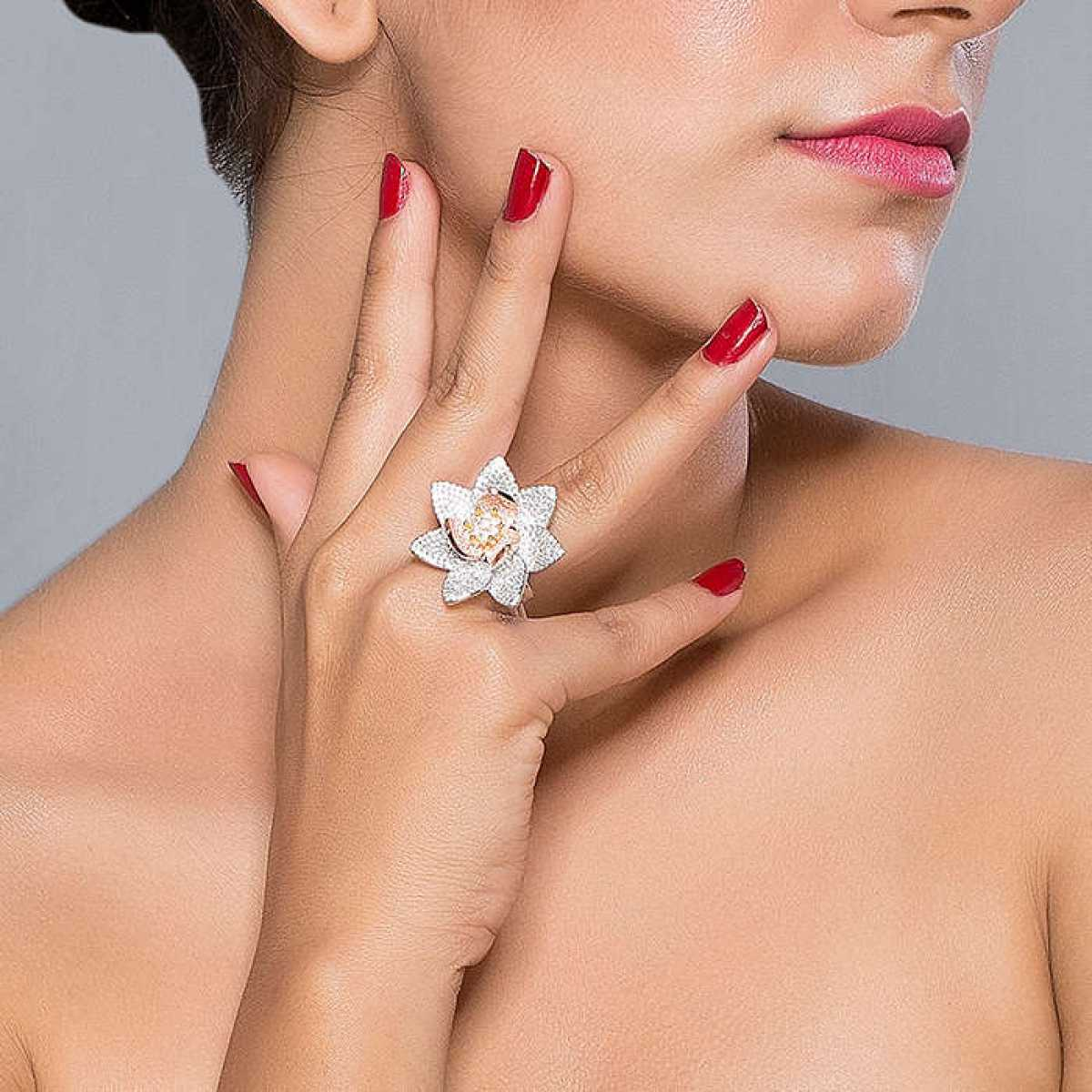 Sweet Lotus sterling silver ring