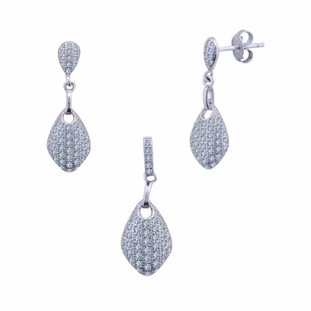 New Look Diamond Pendant Set