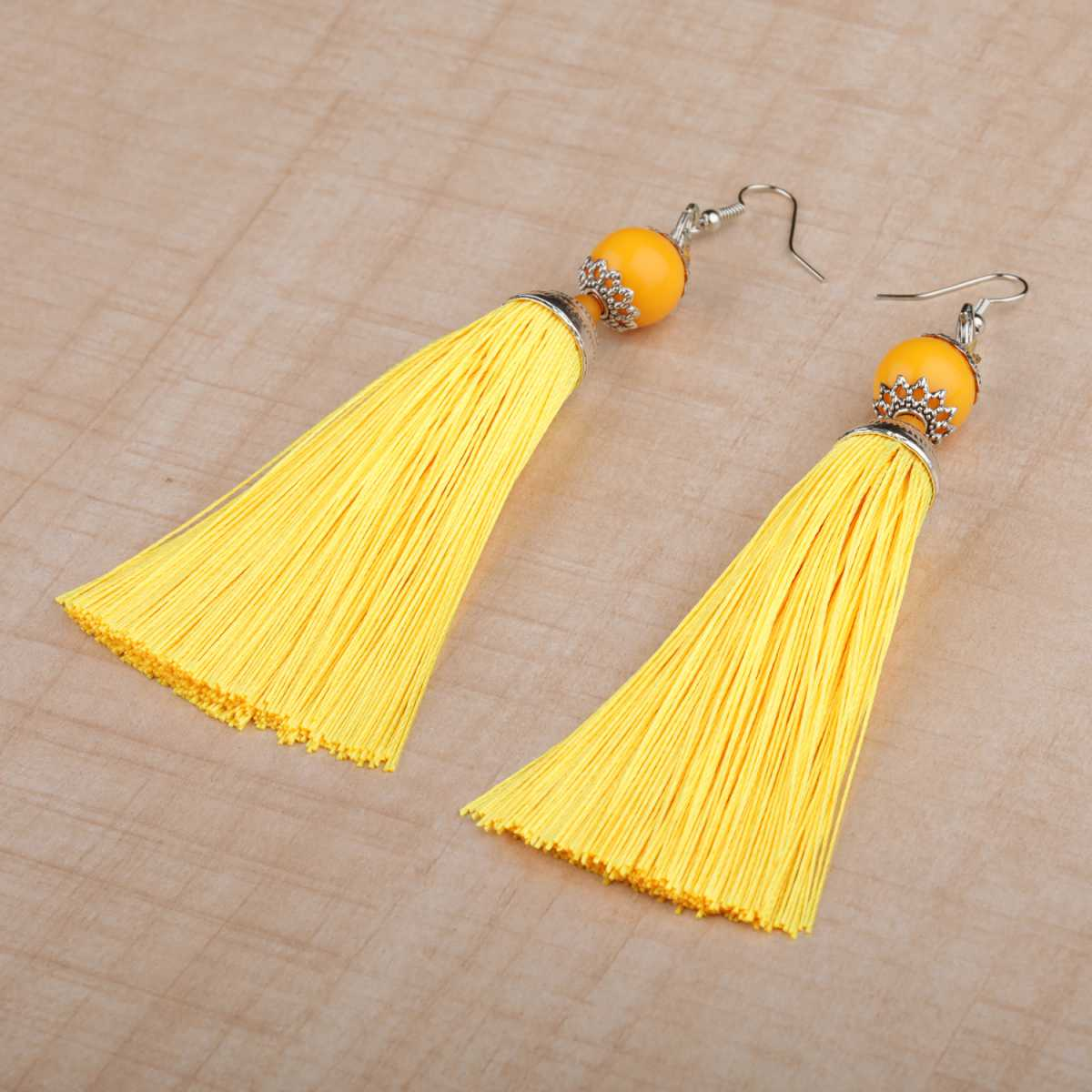 silver shine Elegant Long Thread Tassel