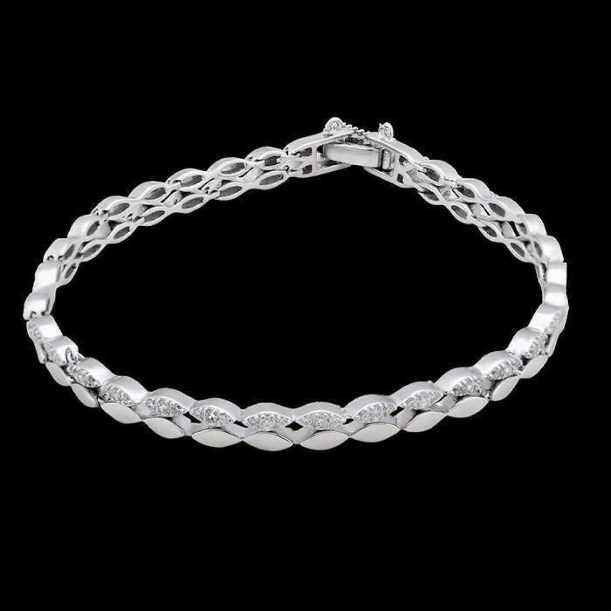 Plain Shape With Diamond Bracelet