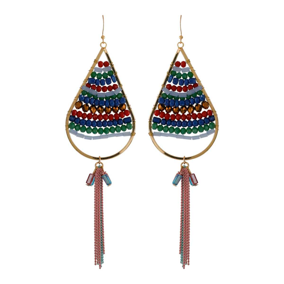 Silver Shine Multi Colour Designer Party Wear Drop Earring For Girls and Women Jewellery