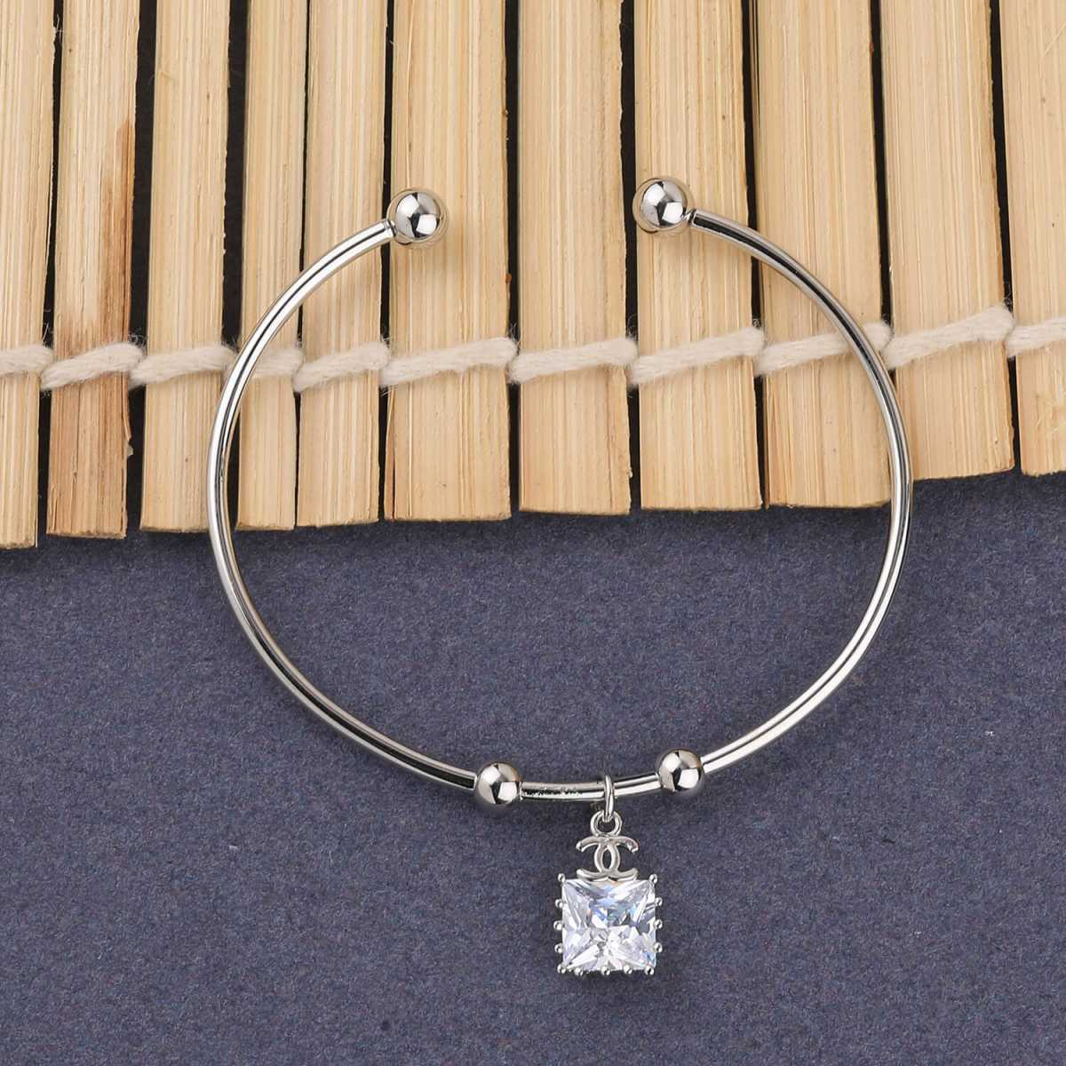 SILVER SHINE Stylish Look Party Wear Adjustable Bracelet With Diamond For Women Girls