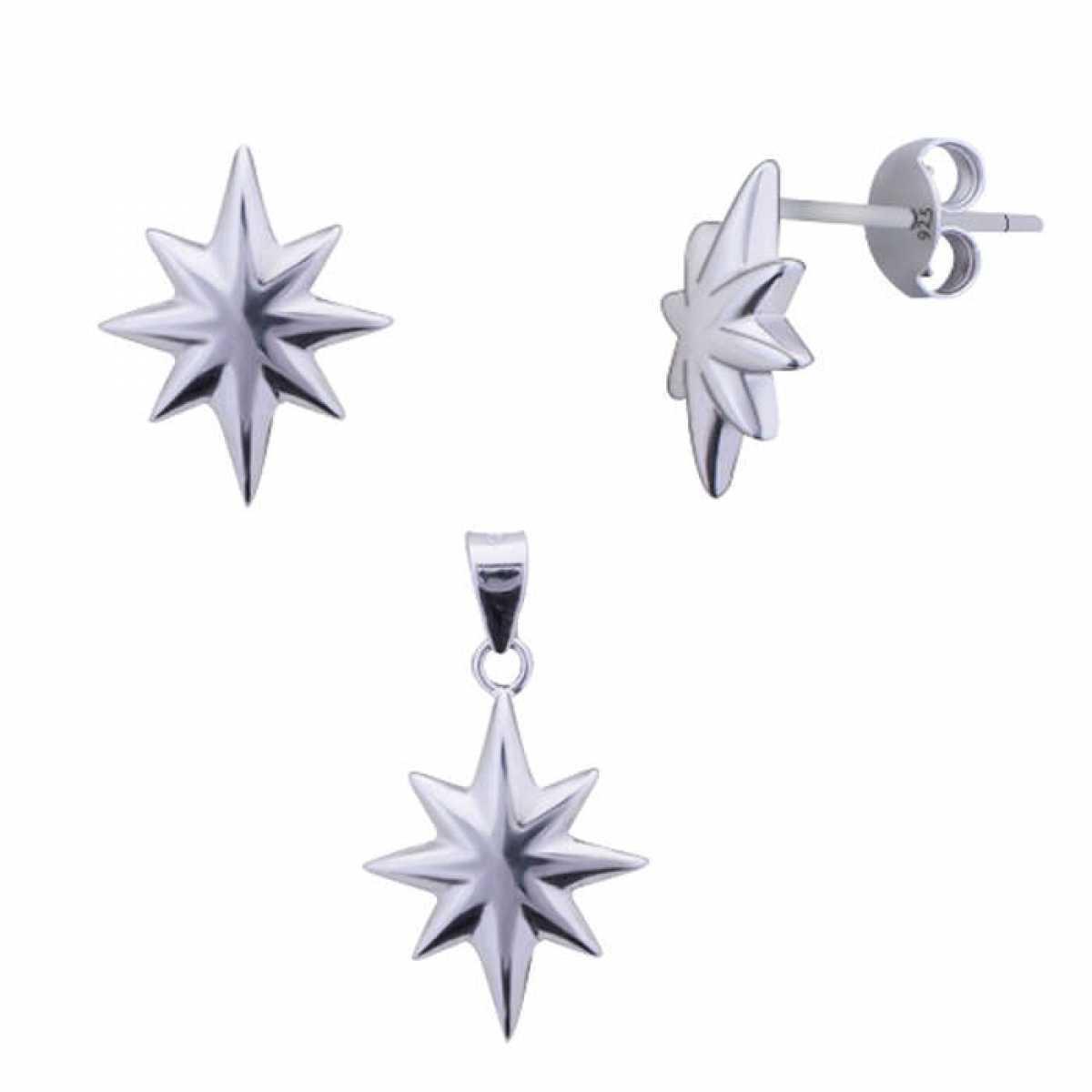 Nights Star Silver Pendant Set