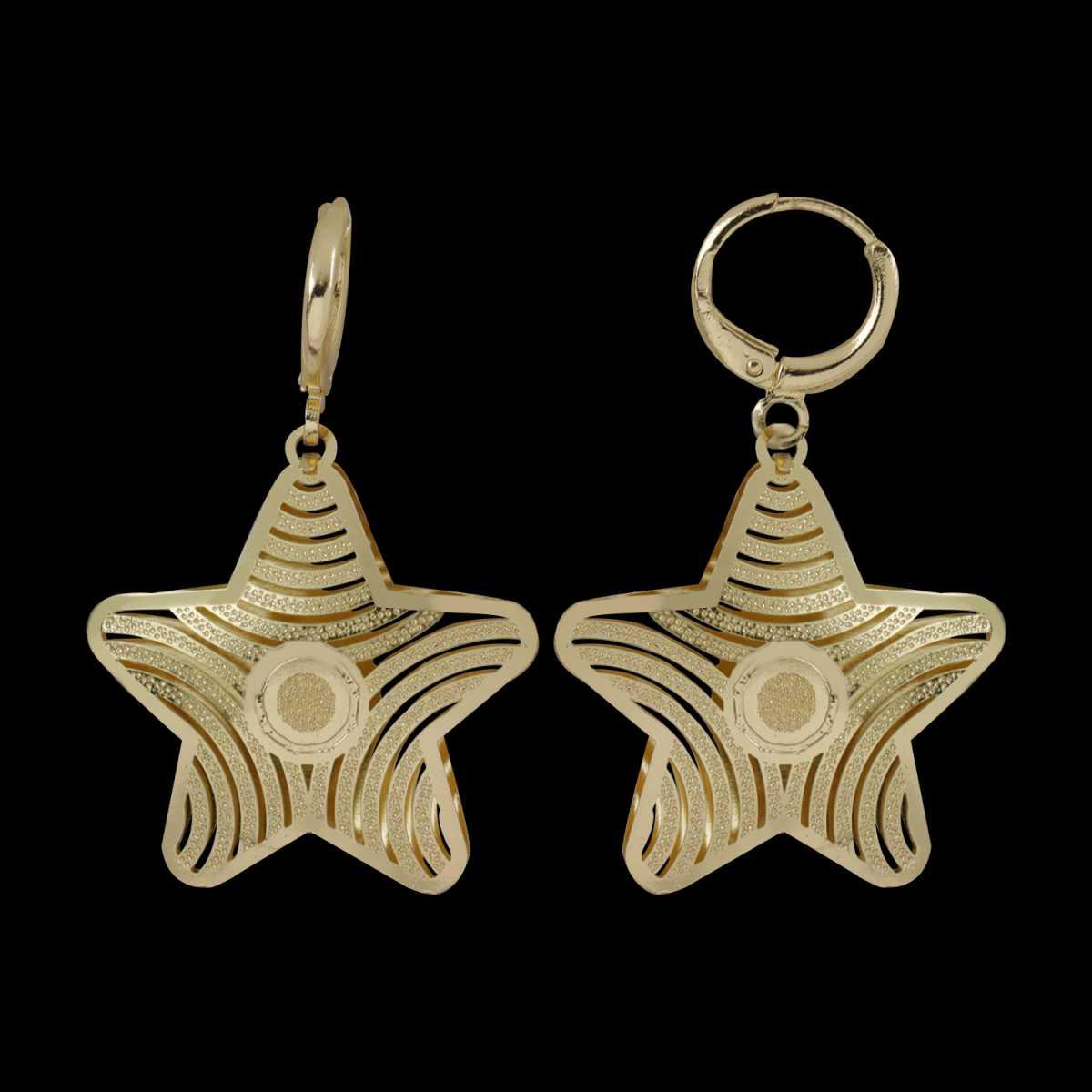 Silver Shine Appealing Golden Star Clip On Bali Earring for Women