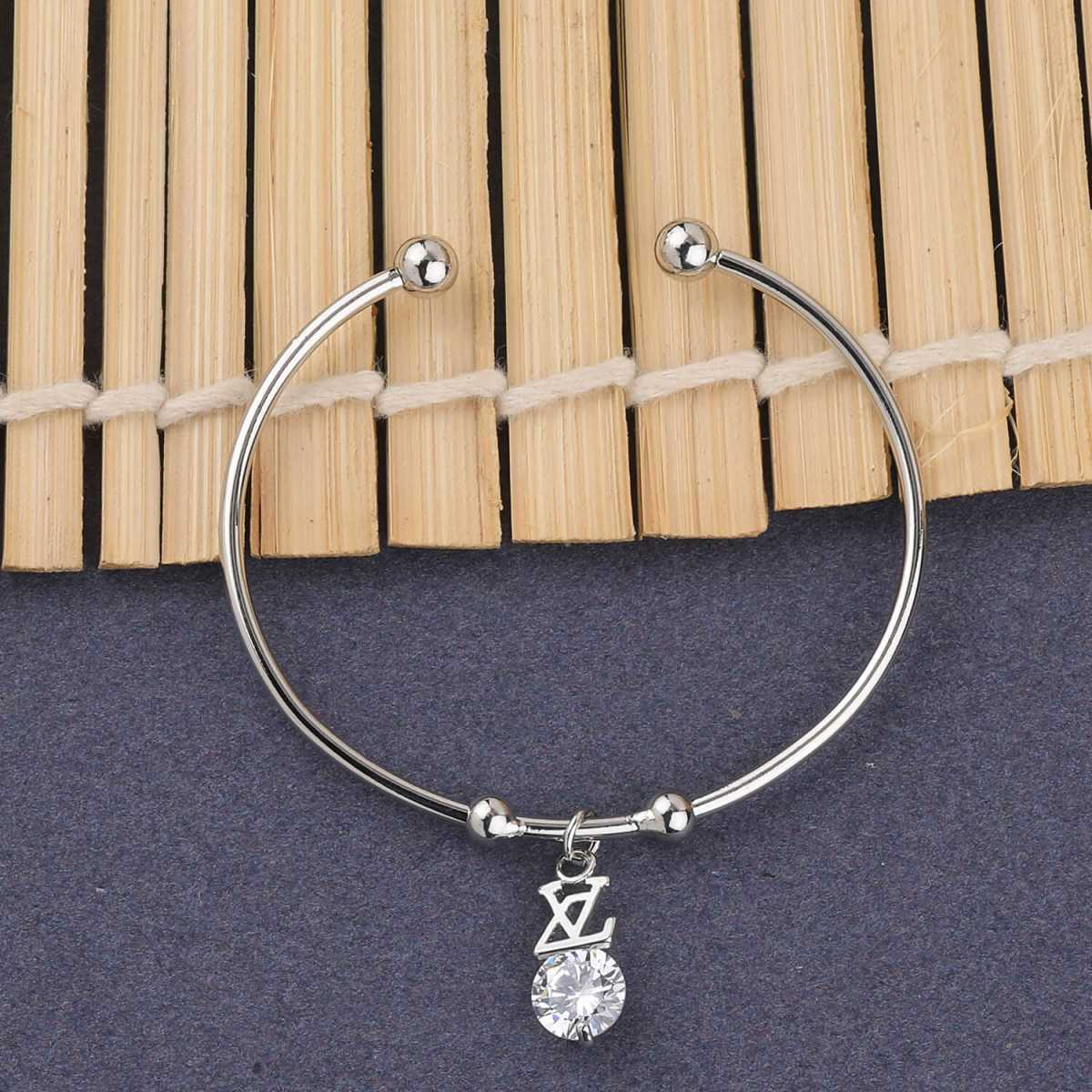 SILVER SHINE Attractive Party Wear Adjustable Bracelet With Diamond For Women Girls