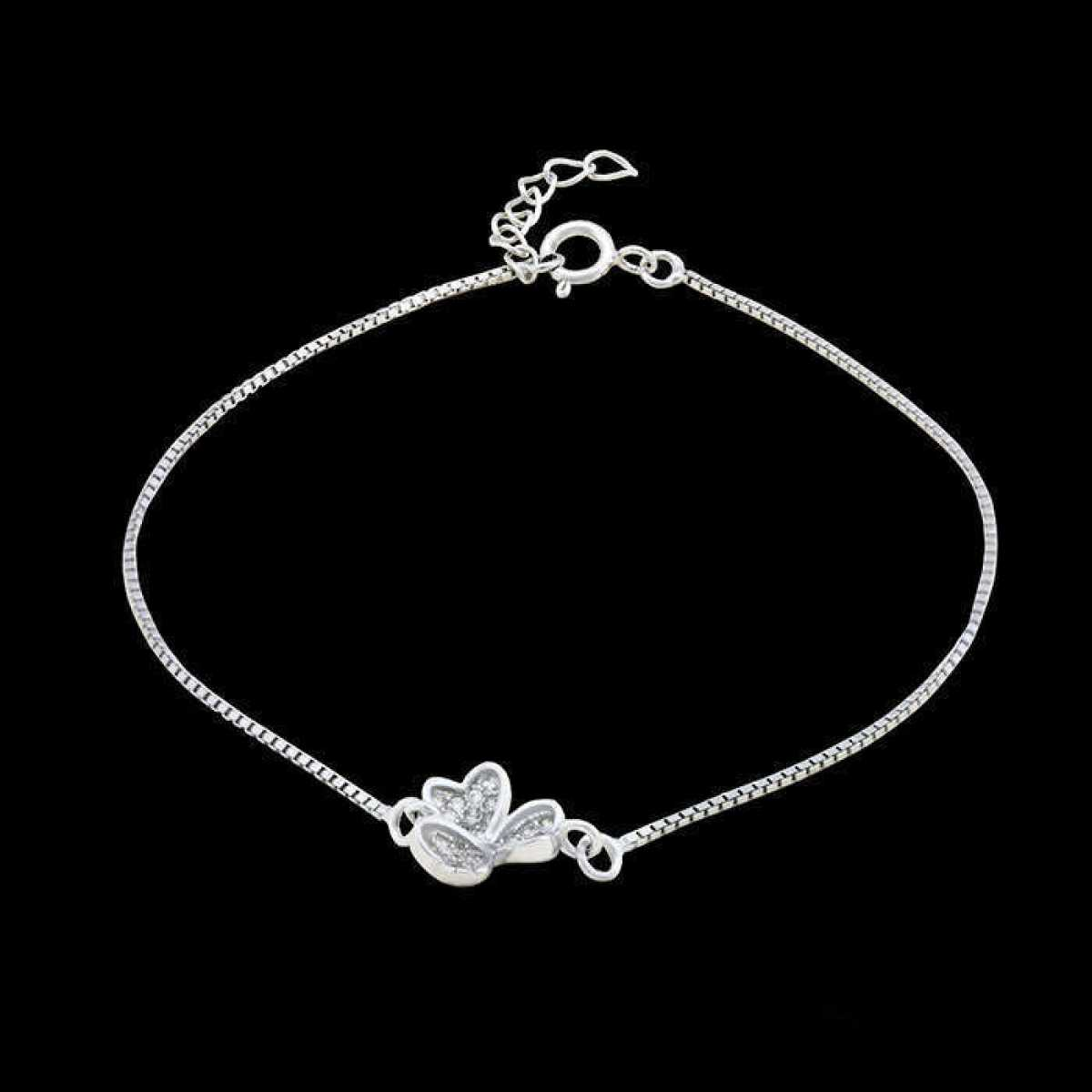 Charm Flower Silver Bracelet
