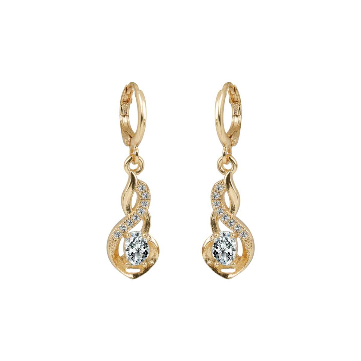 Silver Shine Exclusive Golden Beautiful Clip On Bali Earring for Women