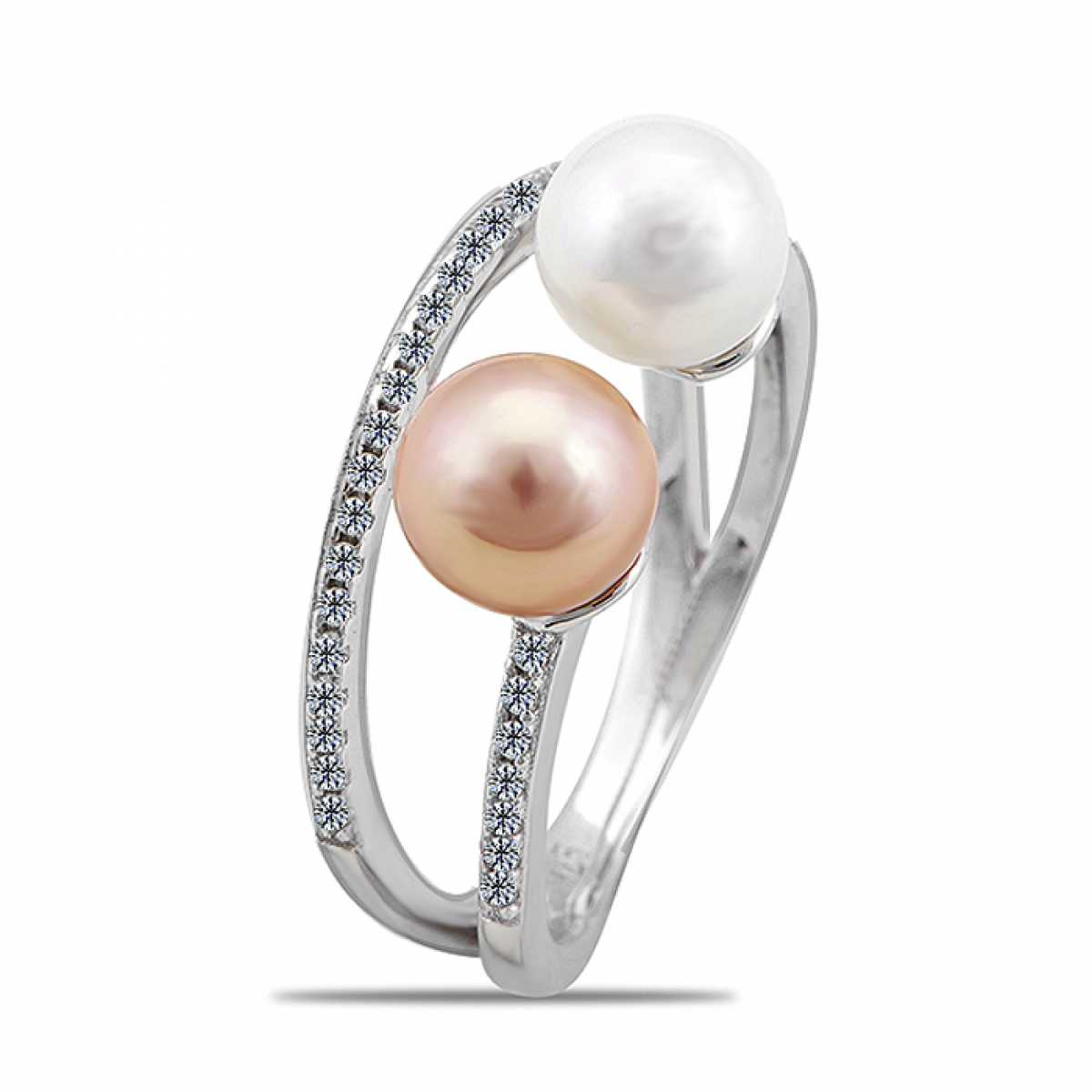 Elegant Cocktail Pearl Ring