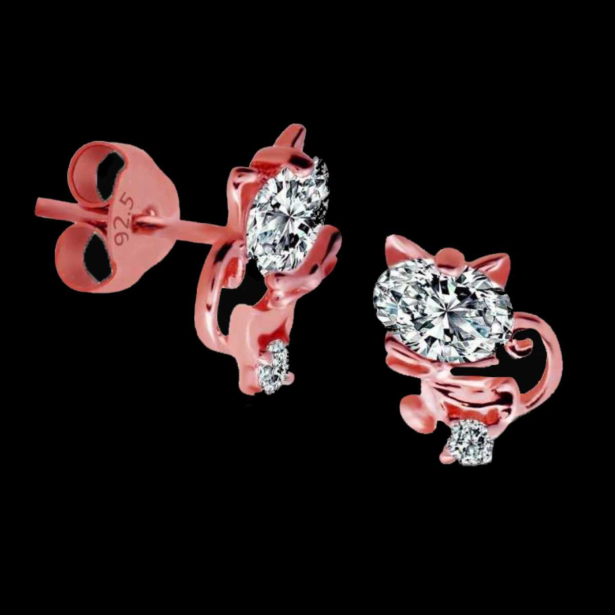 Rose Fancy Silver Earring