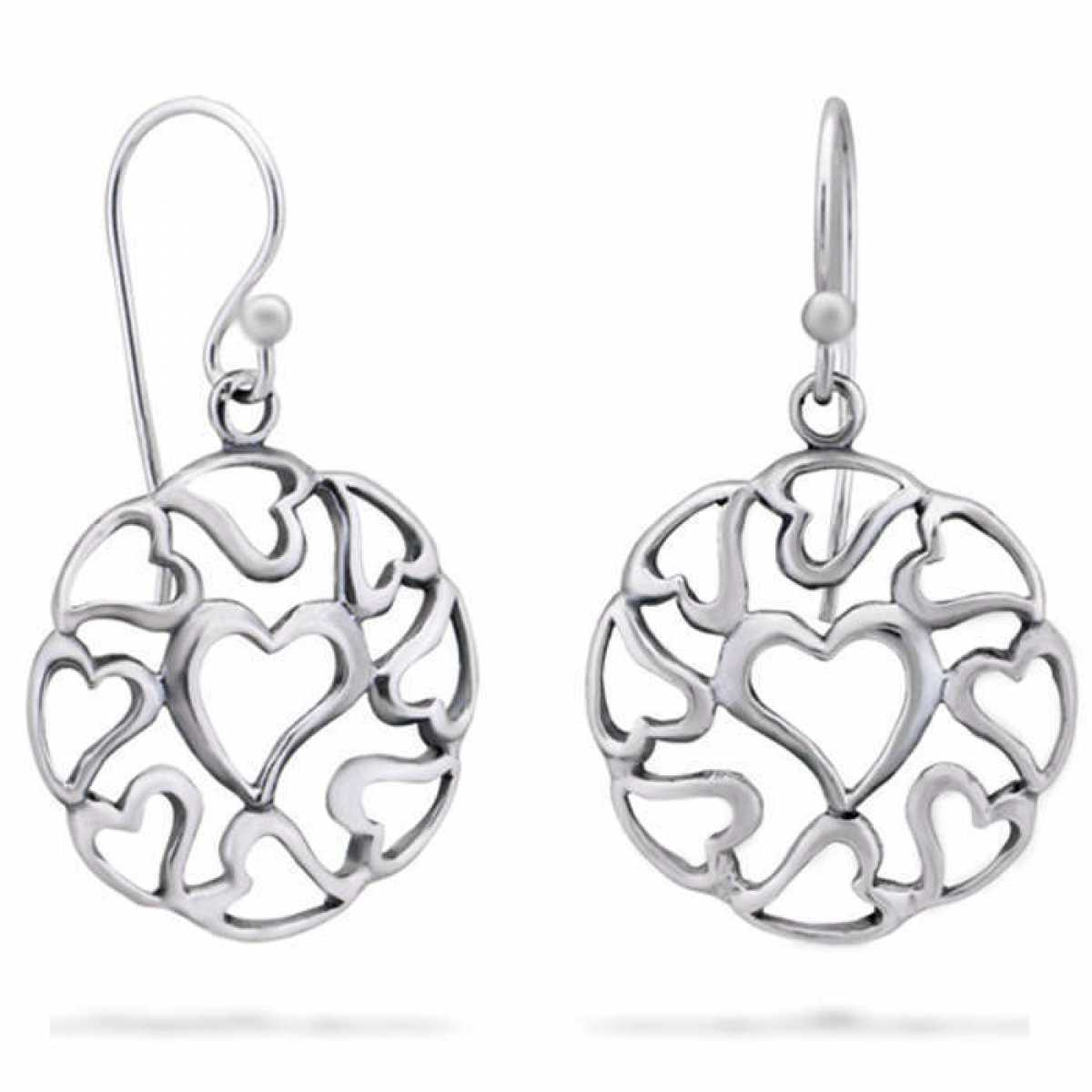 Open Hearts Drop Earring
