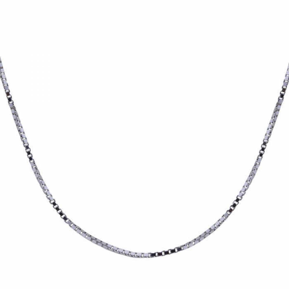 Delicate Box Silver Chain
