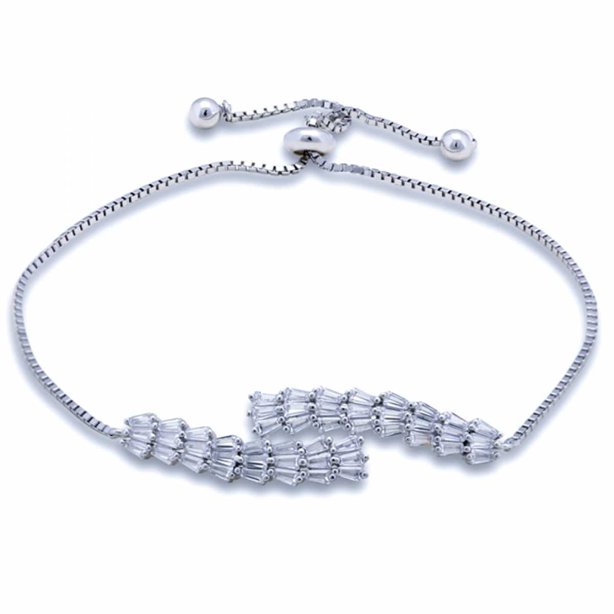 D For Diamond Silver Chain Bracelet