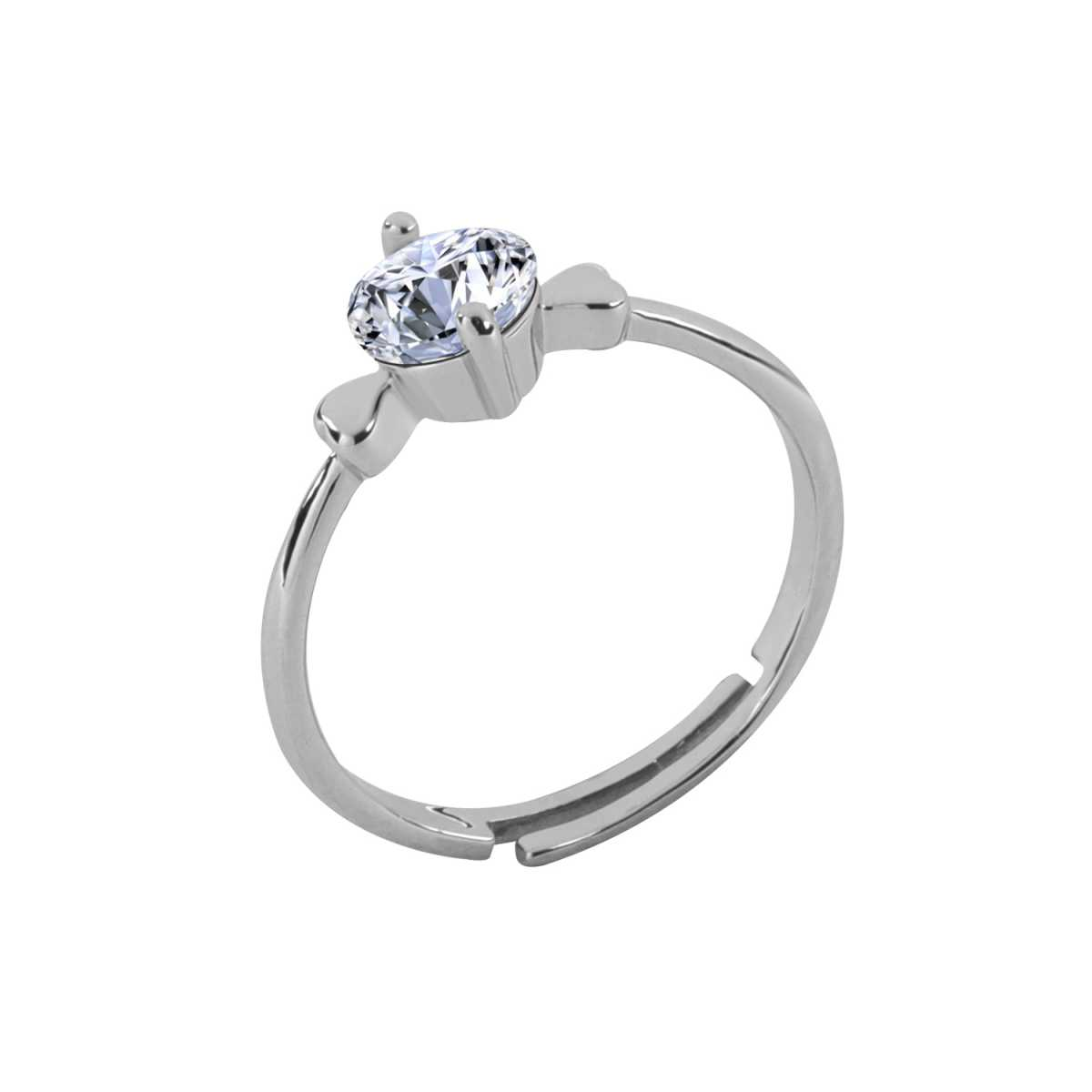 Silver Shine Silver Plated Elegant Classic Crystal Adjustable Solitaire Ring for Girls and women,wedding ring,jewelry,diamonds,fashion jewelry,couple rings silver .