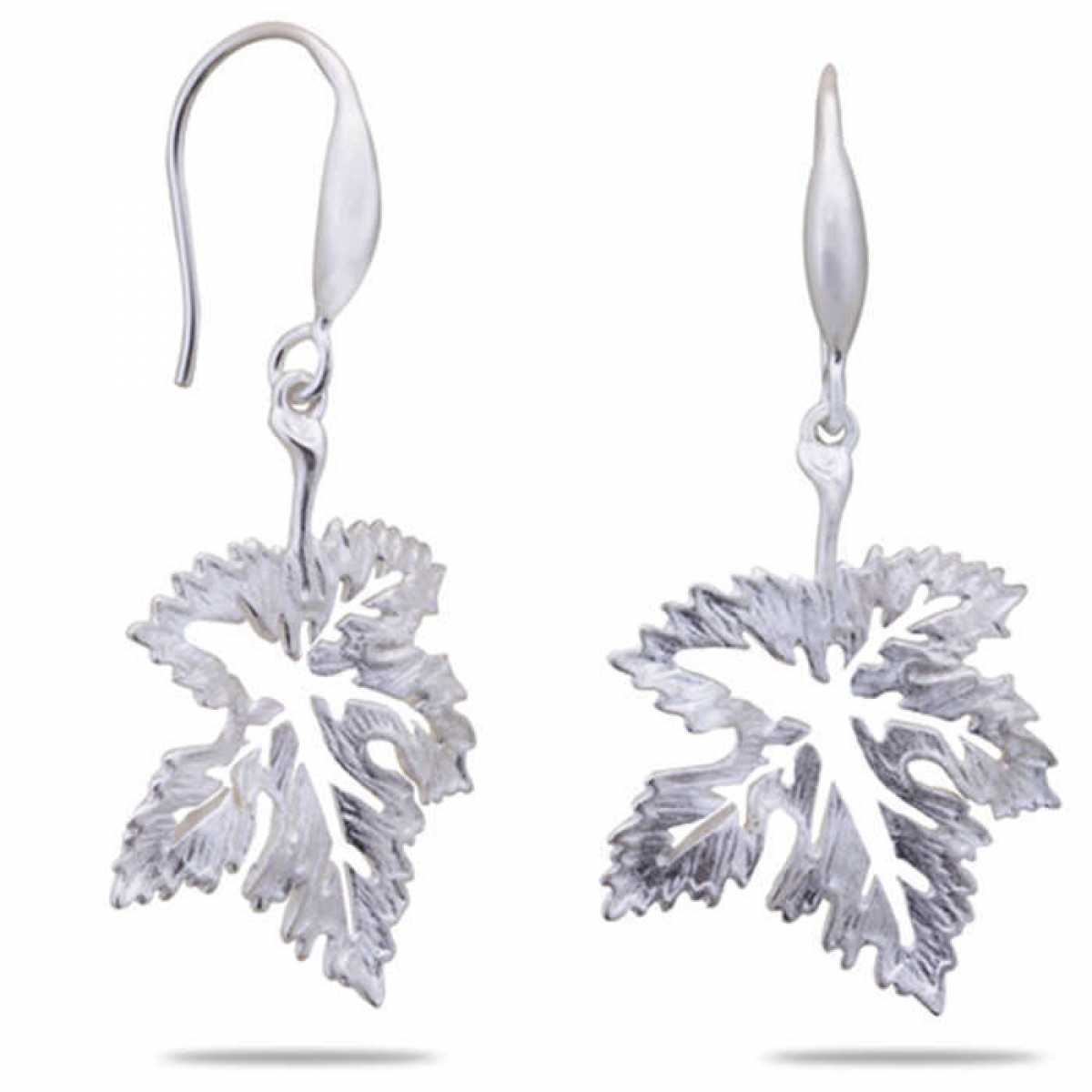 Leaf Shape Silver Earring