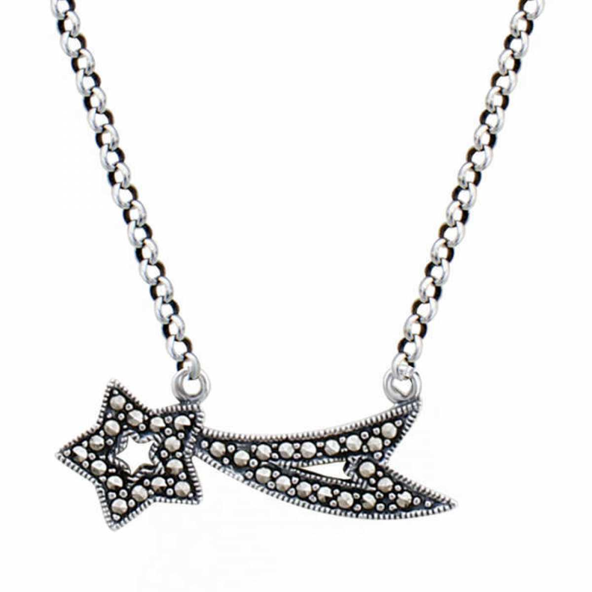 Attach Star & Leaf Silver Chain