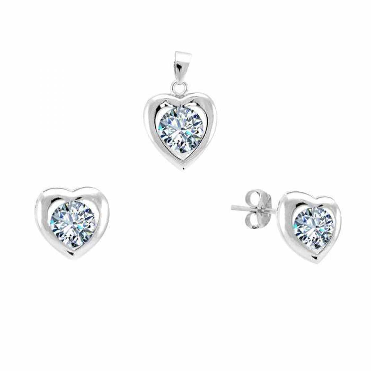 Sweet flower New Silver Pendant Set