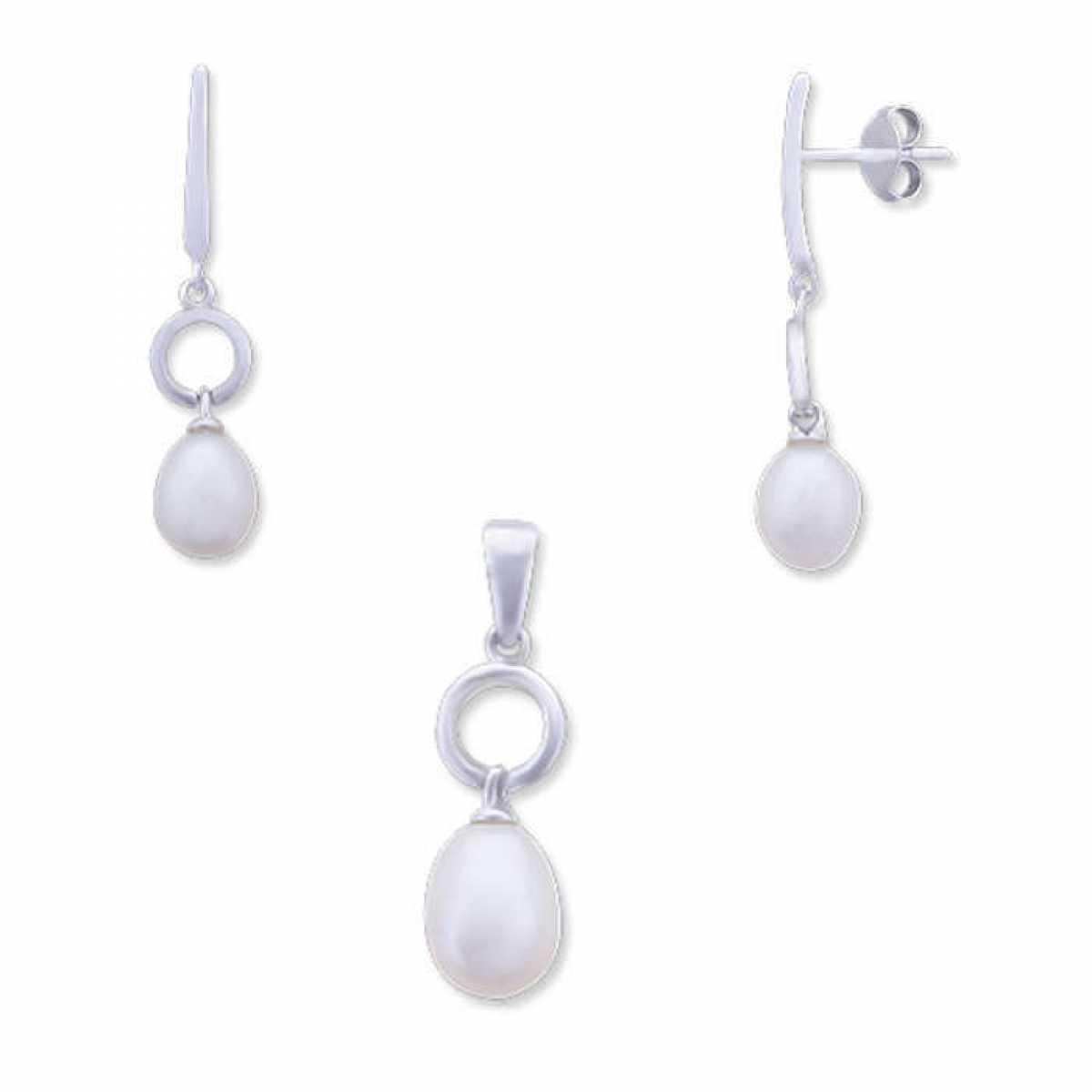 Hanging Pearl Pendant Set