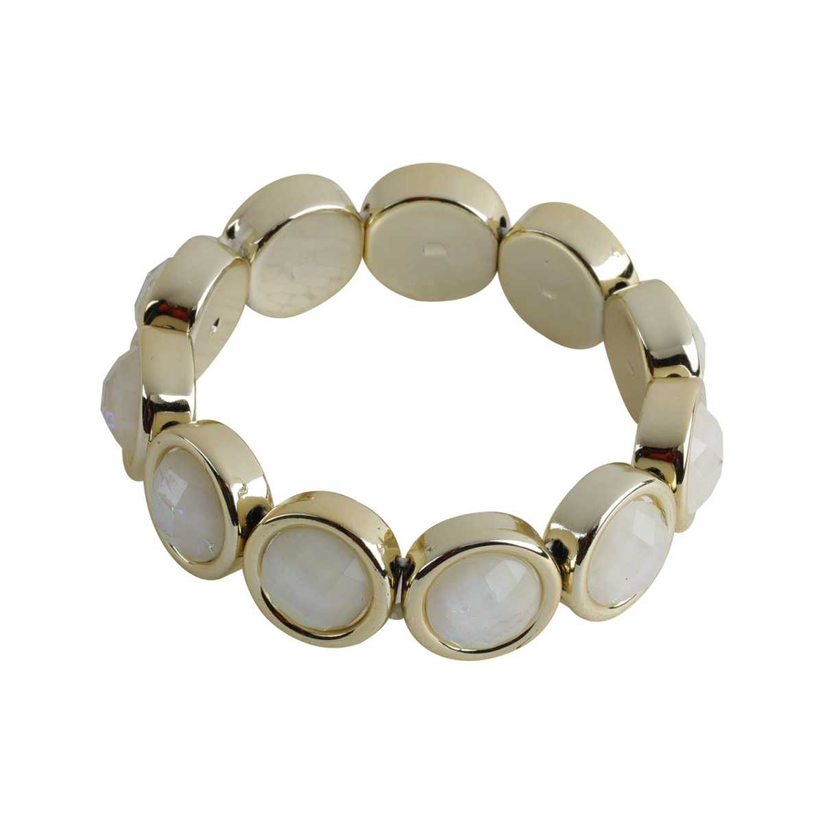 White Colour Stone Coff And Kada Bracelet For Girls And Women