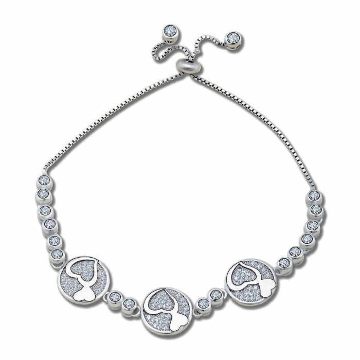 Unique Design Women Lady Sterling Silver Bracelet