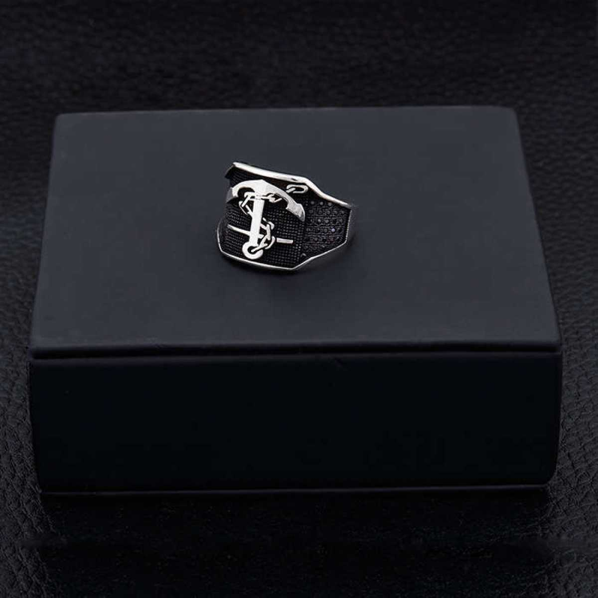 Silver Shine 92.5 Sterling Silver  Arrow  Sterling Silver Ring  for Mens