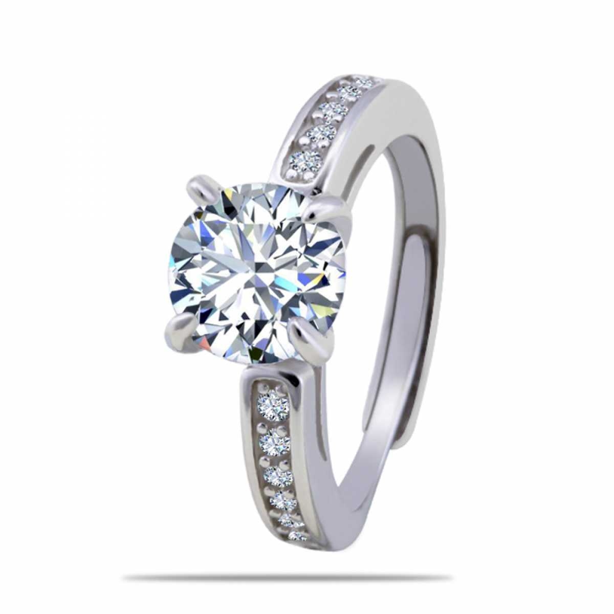 New Diamond Silver Ring
