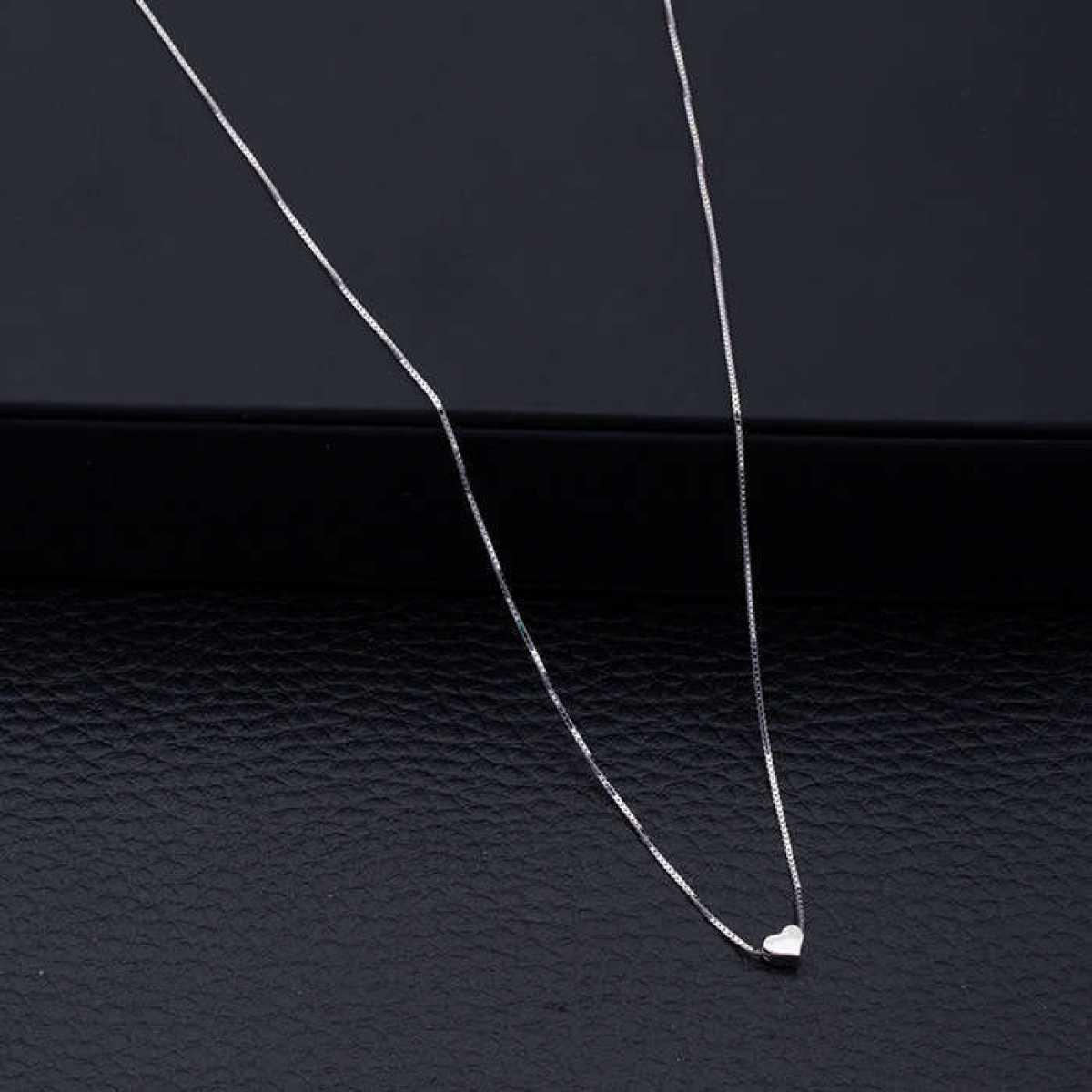Delicate Heart Silver Chain
