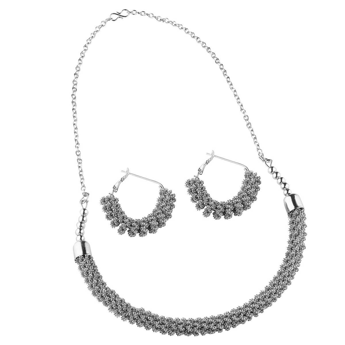 Silver Plated Designer Necklace Set for women Jewellery Set