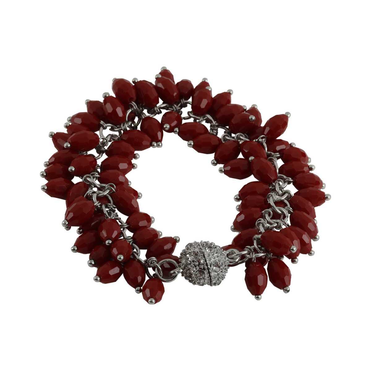 Hot Red Pearl Diamond Bracelet For Girls And Women