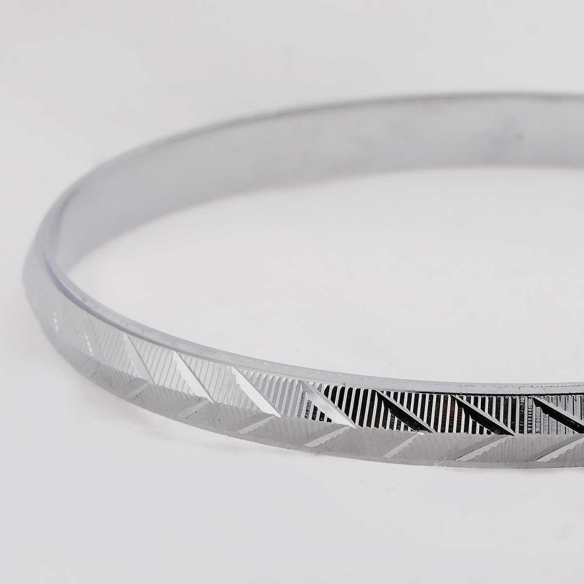Silver Shine Silver Plated Cross Design  Punjabi Kada Bangle Bracelet For Boys and Mens.