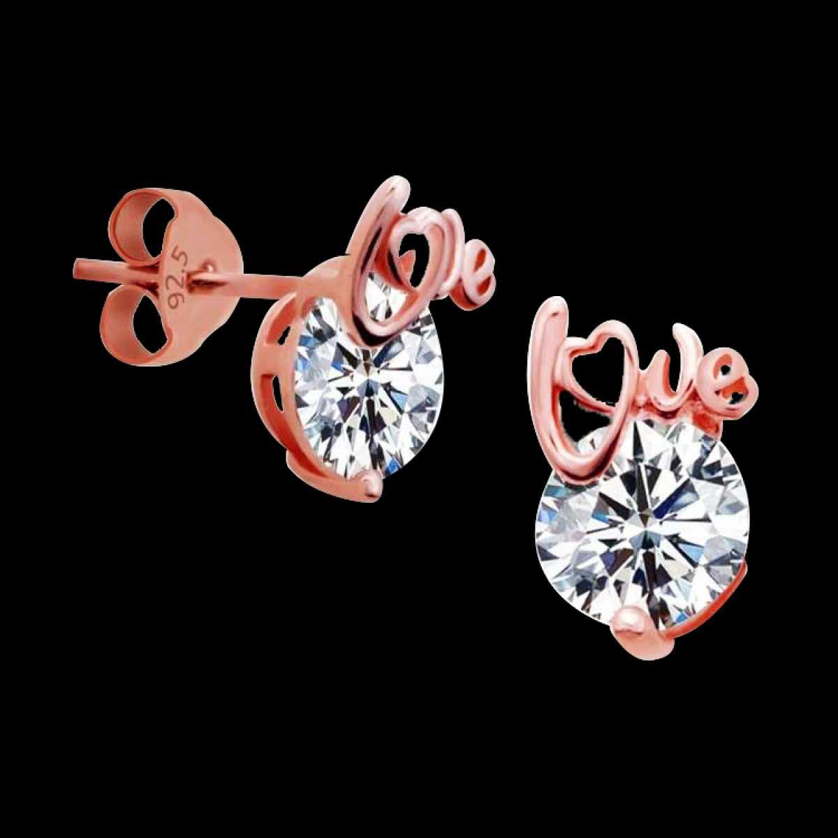 Rose Stone Earring