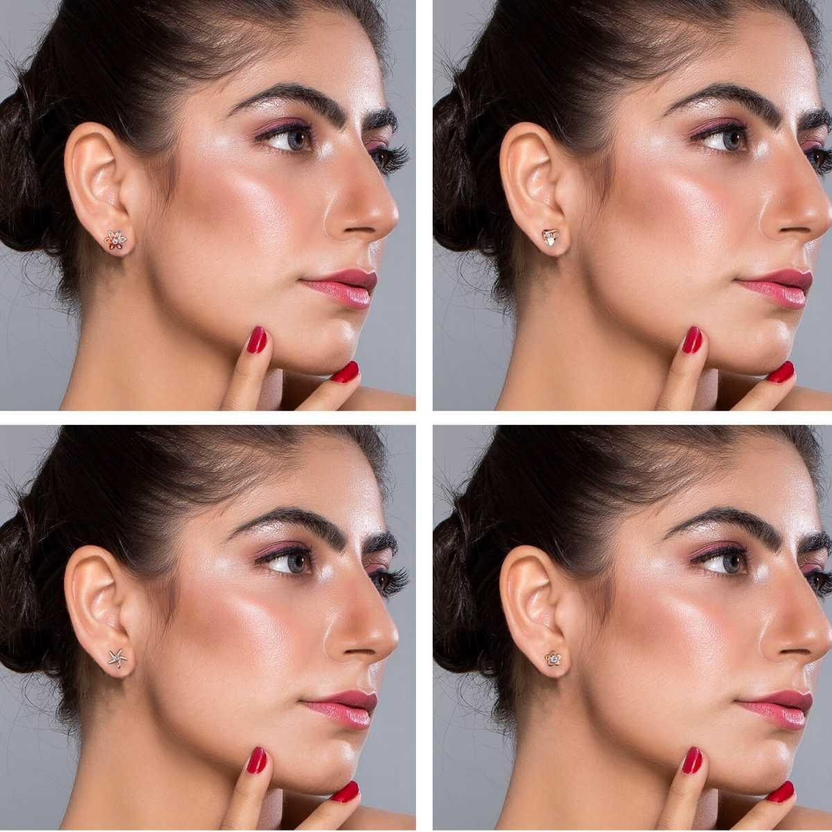Silver Shine Golden look Cute Earring Set of 36 Earrings for Women…